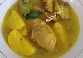 Resep opor ayam bumbu santan kuning jawa spesial untuk menu lebaran. Resep Ayam Kuah Kuning Masakan Mama Mudah