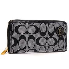 Perfect Coach Logo Large Grey Wallets Arm Sale UK 1g3yl