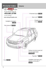 Toyota Highlander Parking Lights 2012 Toyota Highlander Index