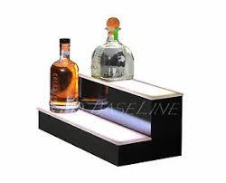 Bar Bottle Display Stand 100 100 Tier Step LED Lighted Back Bar Liquor Bottle Shelf Glowing 17