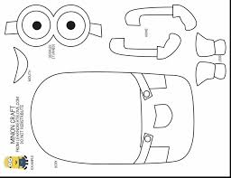 Small Picture beautiful minion cut out template with coloring page maker