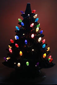 Small Tabletop Christmas Tree  Christmas Lights DecorationCeramic Tabletop Christmas Tree With Lights