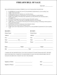 Firearms Bill Of Sale Florida Texas Firearm Bill Of Sale Magdalene Project Org