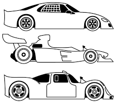 Small Picture Three Different Race Car Coloring Page Free Printable Coloring