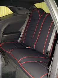 dodge challenger full piping seat covers rear seats