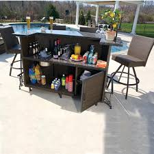 Patio Bar Tables Patio Bistro Bar Table Set techsaucesummitco