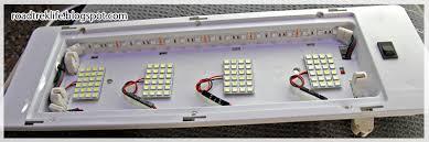 roadtrek modifications mods rv upgrades modificatios overhead led lightning conversion plus led ambient party light combo