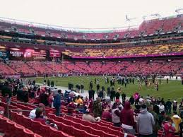Fedex Field Landover Md Seating Chart Fedex Field Section 119 Home Of Washington Redskins