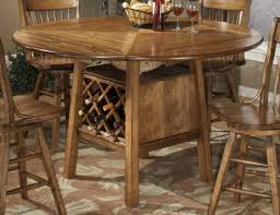 36 Round Dining Table With Leaf Homelegance Golden View Drop Leaf Counter Height Table 787 36