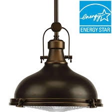 progress lighting fresnel lens collection 1 light oil rubbed bronze integrated led mini pendant with