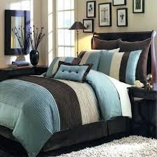 modern color block blue brown comforter set oversized queen duvet cover 98x98 white 90 x 98