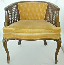 mid century french cane chair barrel back hollywood regency 75 00 via