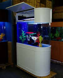 tank furniture. White Corner Shape Fish Tank On The Grey Floor Can Be Decir With Wooden Furniture Add