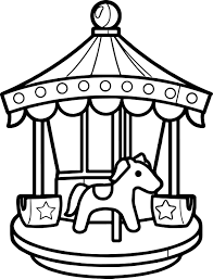Small Picture Carousel Coloring Page Wecoloringpage