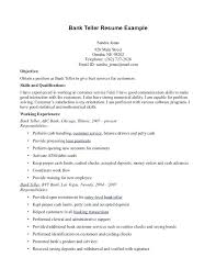 teller duties resume bank teller duties for resumes template bank teller  resume teller supervisor job description