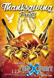 thanksgiving party flyer free thanksgiving party night flyer psd template facebook
