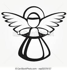 Sylwetka, boże narodzenie, anioł. Płaski, anioł, boże narodzenie,  skrzydełka, aureola, ikona. | CanStock