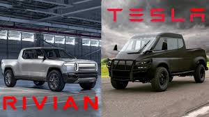 Rivian R1T Compared To Tesla Electric Pickup Truck: Video