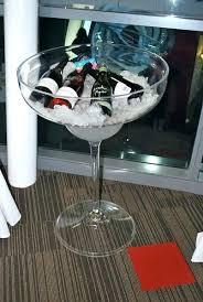oversized wine glass decoration giant wine glass bar equipment hire bar service equipment hire giant wine