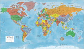 how many countries in the world of  continents and  oceans