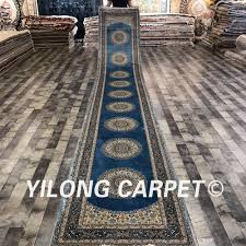Designer Floor Rugs Us 7056 0 Yilong 2 8x18 Entrance Handmade Persian Style Silk Carpets Runners Hallway Designer Rugs S174a 2 8x18 In Rug From Home Garden On
