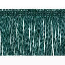 Decorative Fabric Trim 2 Chainette Fringe Trim Teal Discount Designer Fabric Fabriccom