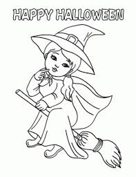 Small Picture Witch Halloween Coloring Pages Printable Coloring Kids Coloring