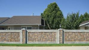 fence design. Stone Fence Home Design 1