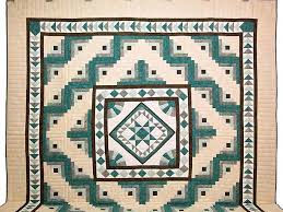 Flying Geese Log Cabin Medallion Quilt -- wonderful skillfully ... & ... King Teal and Brown Flying Geese Log Cabin Medallion Quilt Photo 2 ... Adamdwight.com