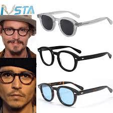 IVSTA <b>Johnny Depp Glasses Men</b> Handmade Acetate Frame ...