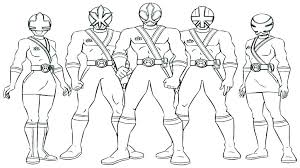 Power Rangers Rpm Coloring Pages Ranger With A Laser Weapon Power
