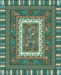 Quilt Patterns with Center Panels | Fractured Glass Quilt Pattern ... & Quilt Patterns with Center Panels | Fractured Glass Quilt Pattern PC-125  (intermediate, Adamdwight.com