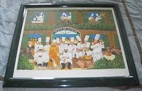 Guy Buffet Ecole De Cuisine Signed Le 69500 Serigraph 28x33 Art