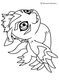Small Picture Digimon Coloring Pages
