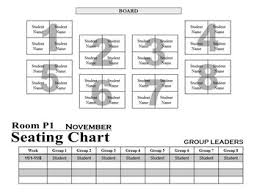 Classroom Group Seating Chart Template Seating Chart 6 To 8 Group Templates In 2019 Products