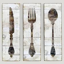 fork knife spoon canvas wall art