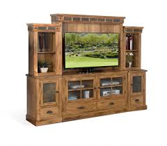 Sedona Furniture Sunny Designs Sunny Designs Sedona Rustic Oak Entertainment Wall The
