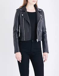 318 00 maje baltika leather biker jacket