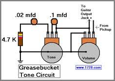 the fabulous four mods for your strat tele les paul and super greasebucket tone circuit for guitar