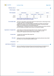 Europass Curriculum Vitae Writing Tips Resumeviking Com