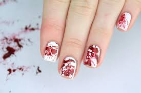 PackAPunchPolish: Blood Splatter Nail Art with Video Tutorial