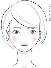 美容 人物 女性 顔のイラスト素材 Pixta