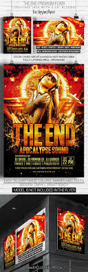 party club event psd flyer templates techclient the end club and party flyer psd template custom