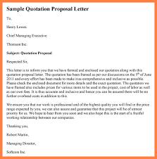 Sample Proposal Quotation 7 Advertising Proposal Letter Sample