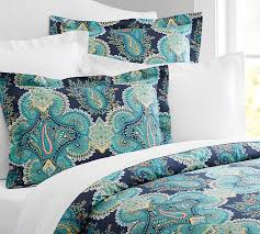 duvet paisley linden paisley duvet cover oriental persian paisley swirls green pink duvet cover by sitnica