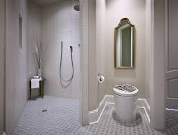 door less walk in shower universal designed