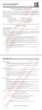 Sample Resume For Construction Manager Free Resume Example And