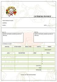 Catering Invoice Example 28 Catering Invoice Templates Free Download Demplates