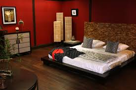 Brown Gloss Wooden Side Bed Table Asian Style Bedroom Furniture - Red gloss bedroom furniture