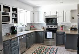 Colored Kitchen Cabinets Double Colour Kitchen Cabinets Cliff Kitchen